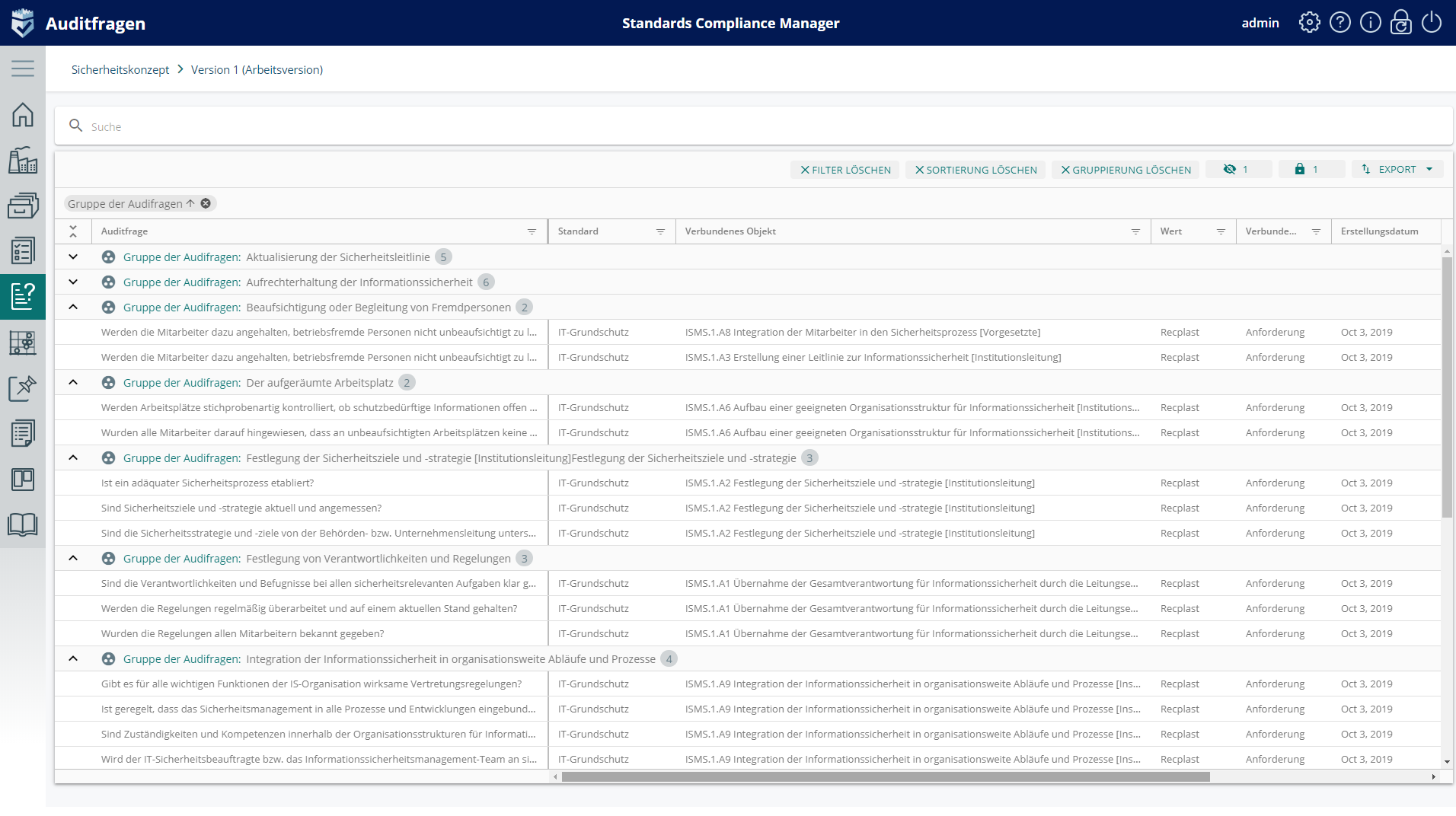 Infopulse SCM Audit-Fragebögen und Checklisten