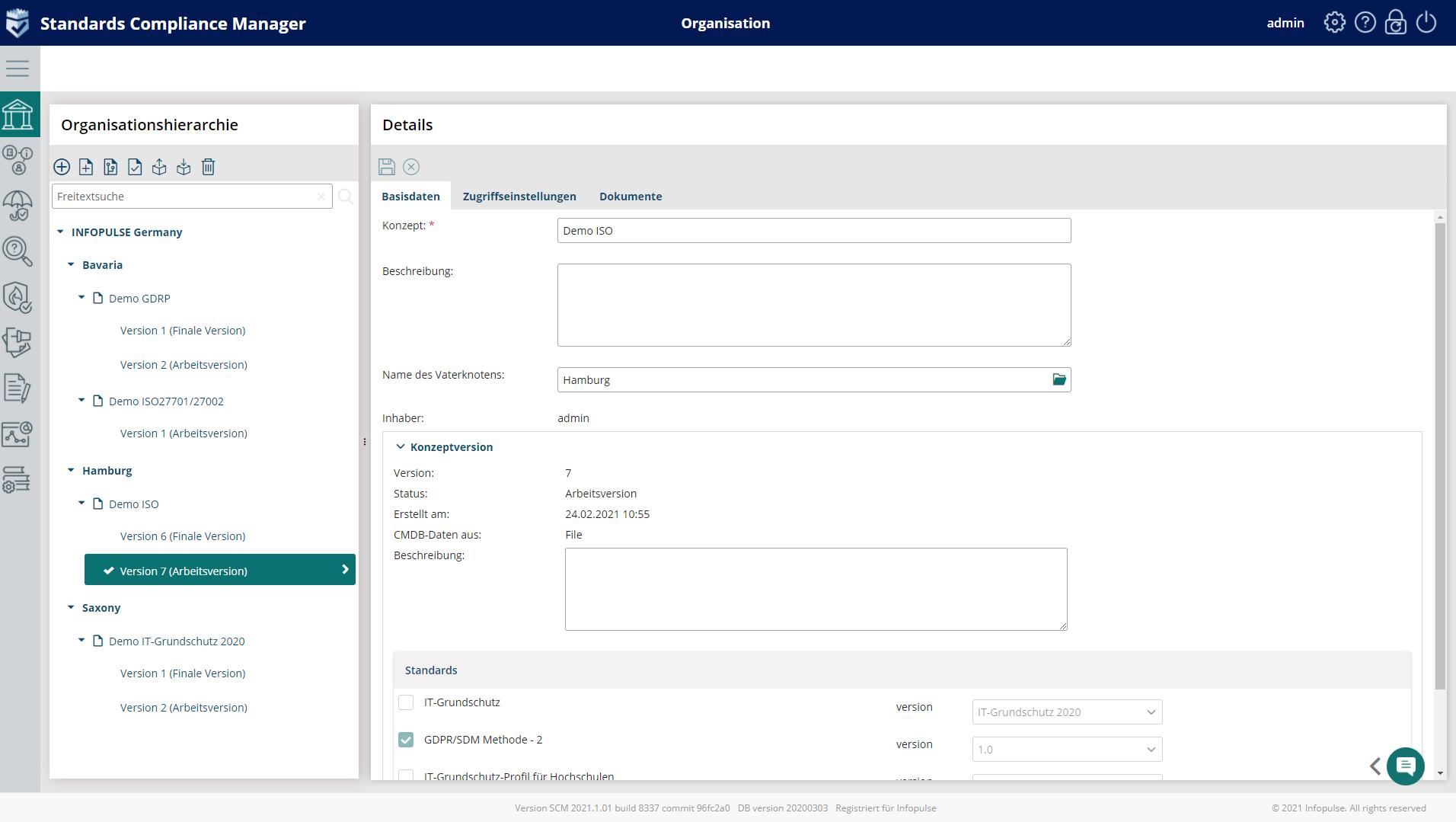 Compliance project concept management IT Grundschutz